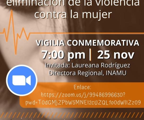 Conmemoración del día de la eliminación de la violencia contra la mujer