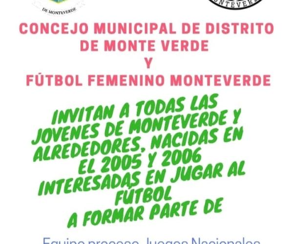 Conformación de equipo de fútbol femenino del Concejo Municipal de Distrito
