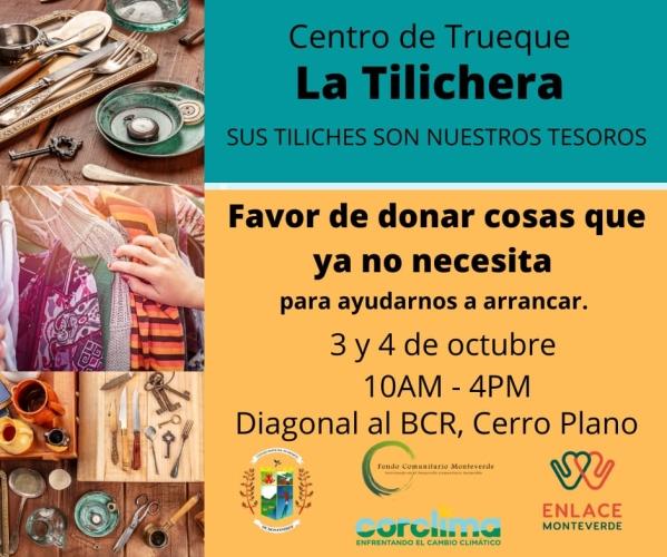 Participemos del Centro de Trueque la Tilichera